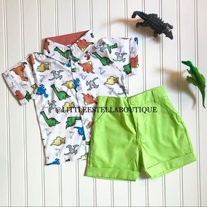 Boy Two Piece Dinosaur Themed Outfit